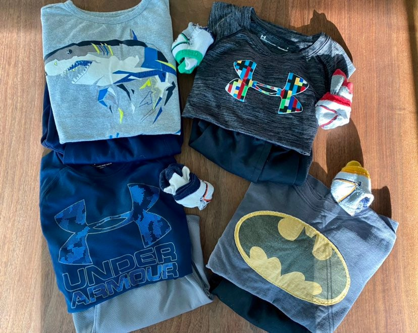 Four Little Boys Athletic Summer Outfits