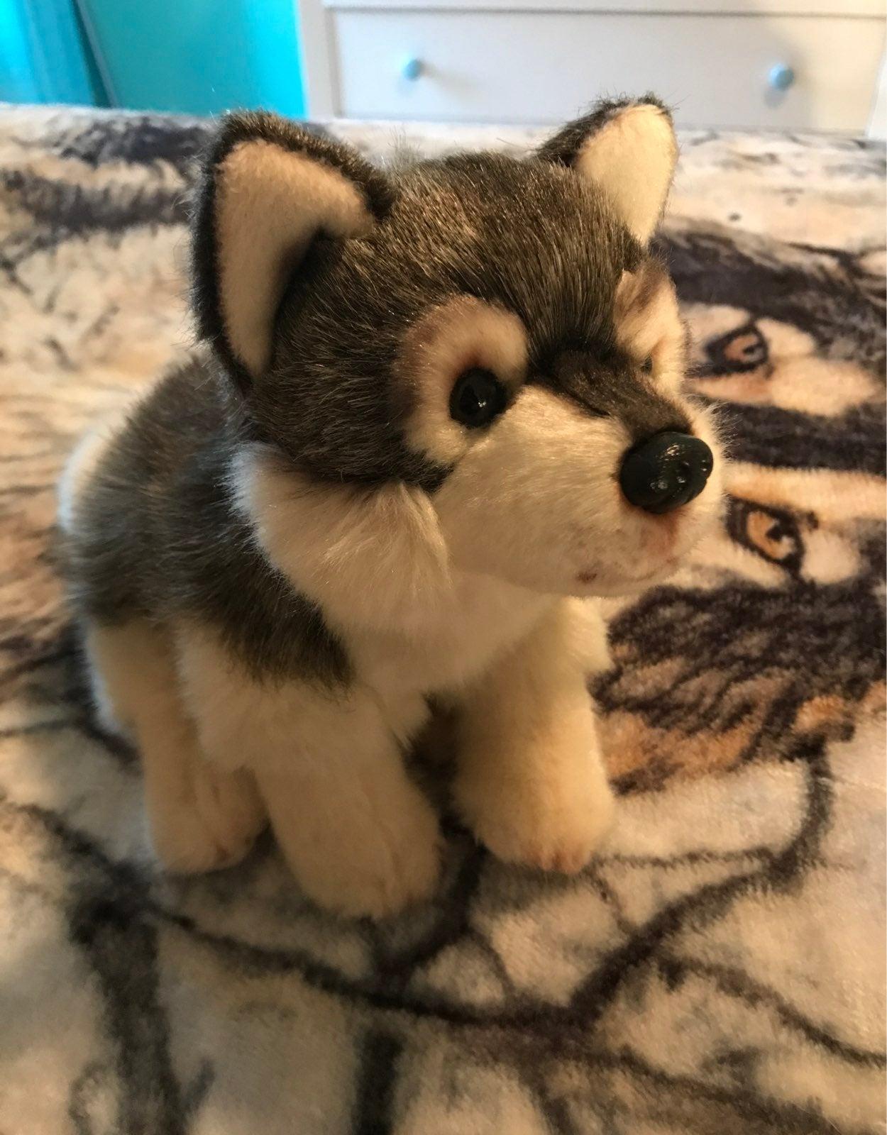 Nat and Jules wolf husky plush