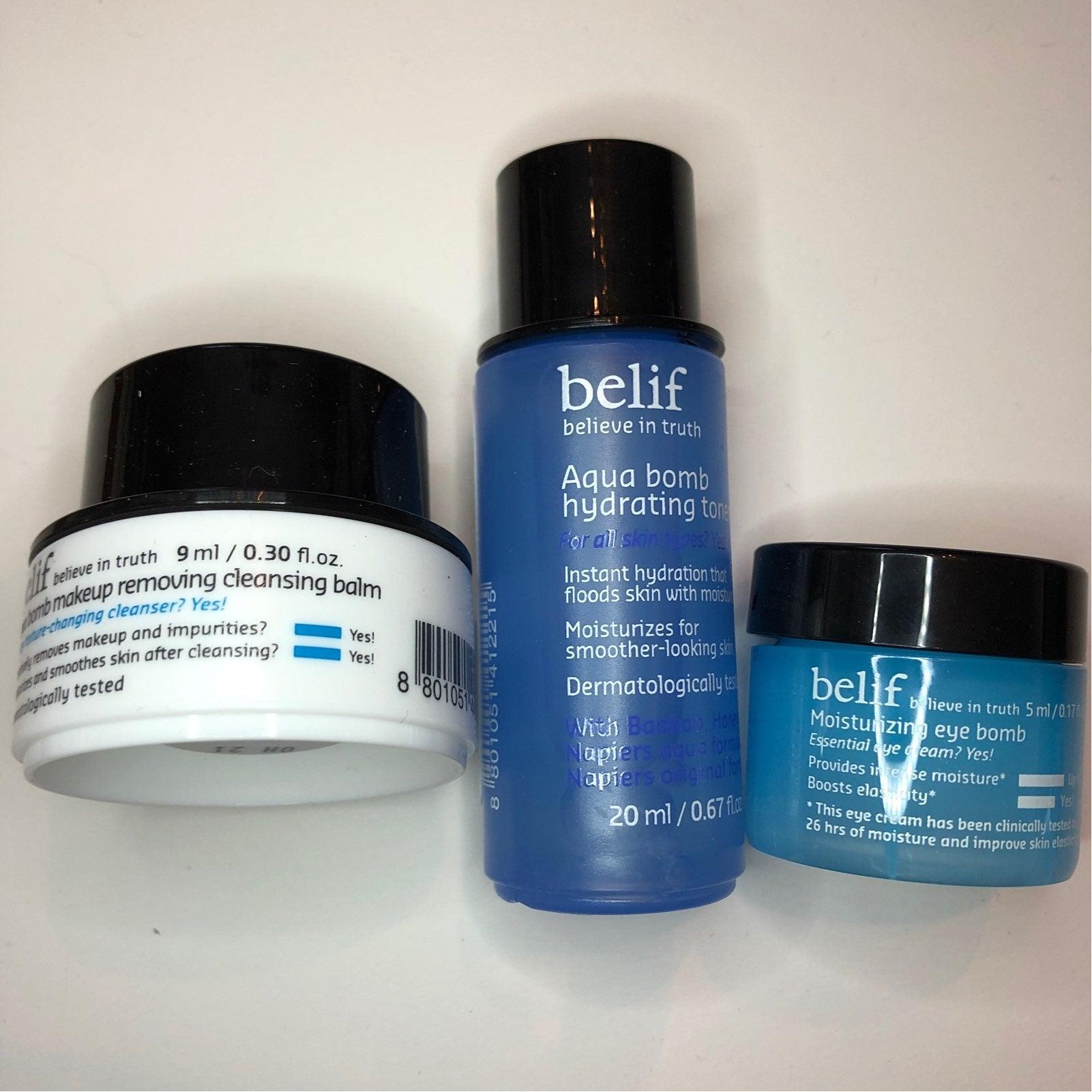 New - Belif Aqua Bomb Skincare 3pc Set