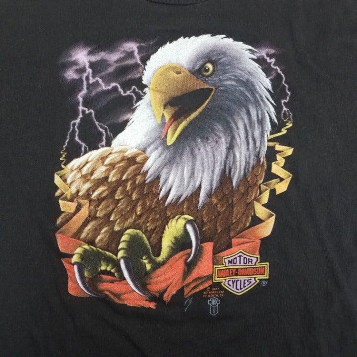 VTG 80s Harley Davidson 3D Emblem TShirt