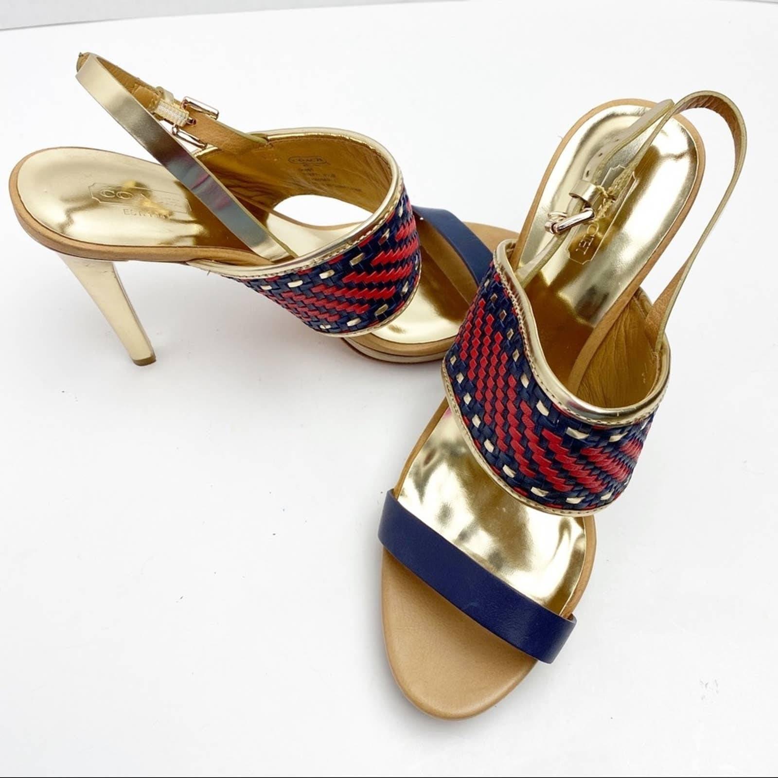 Coach Steffi Platform Strappy Heels