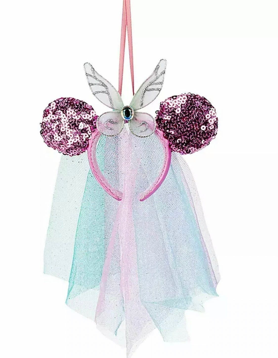 Minnie Mouse Ears Fairy Wings Ornament
