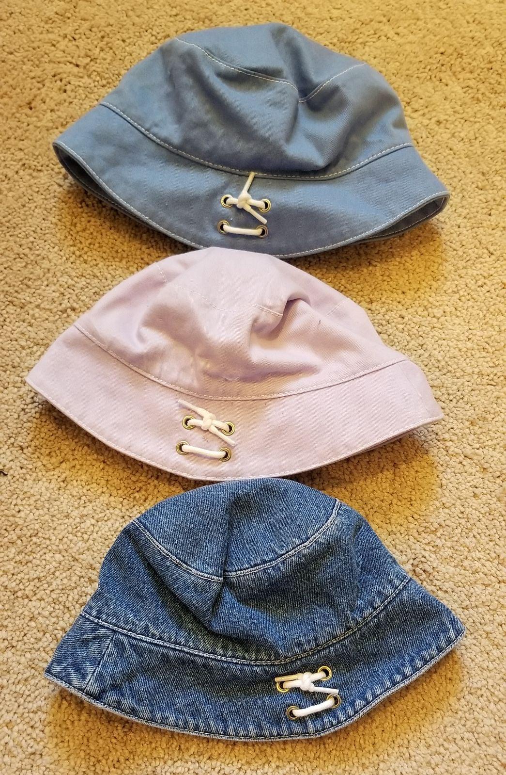 Vintage Gymboree Indigo Florals Hats