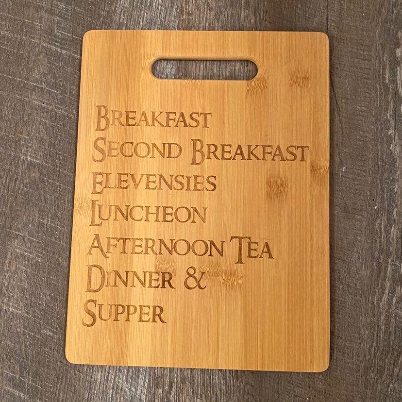 Lord of the rings inspired cutting board