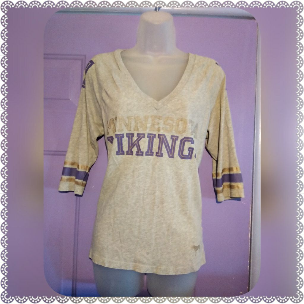PINK VS MINNESOTA VIKINGS TOP-SMALL