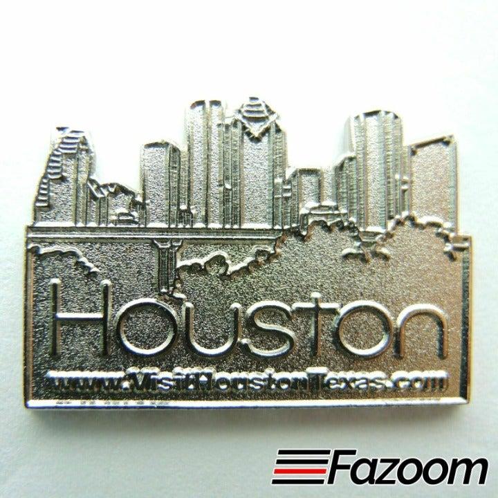 Houston Texas Skyline Lapel Pin