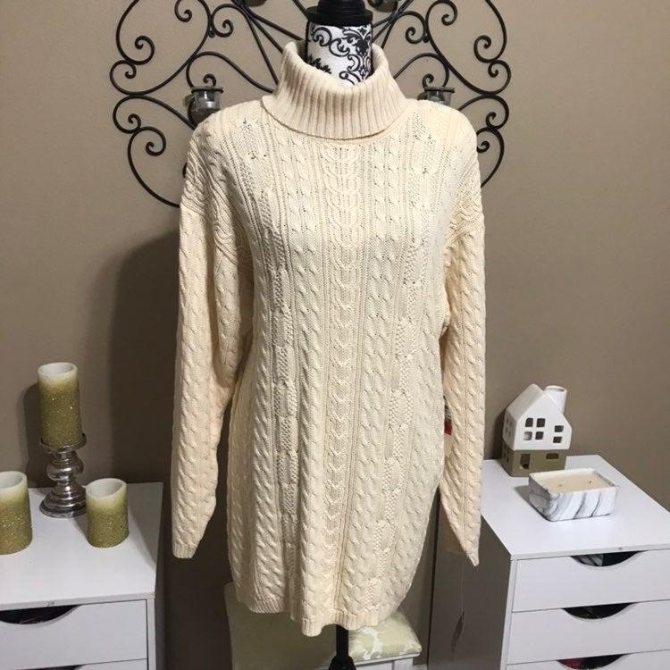 Jeanne Pierre Turtleneck Tunic Sweater M
