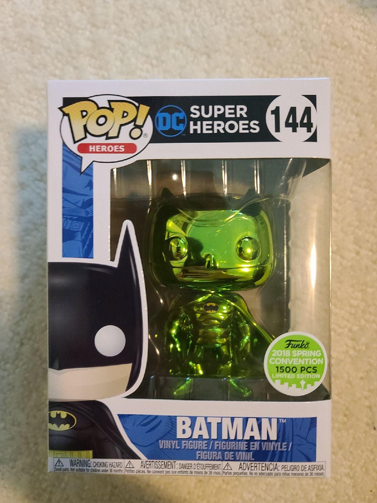 Funko Pop Chrome Green Batman Limited Ed