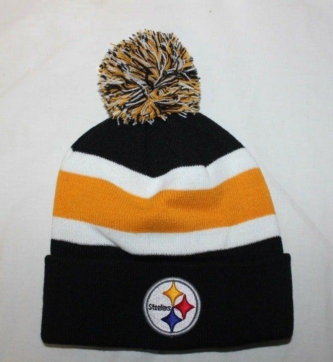 Pittsburgh Steelers Knit Pom Beanie Hat
