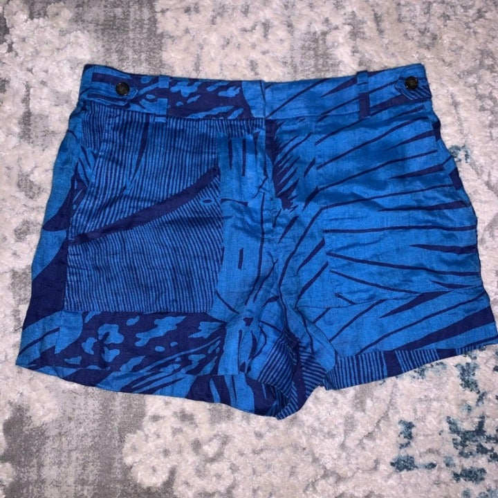 J.Crew Linen tropical casual shorts