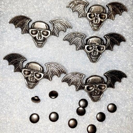 Diy skull winged rivets