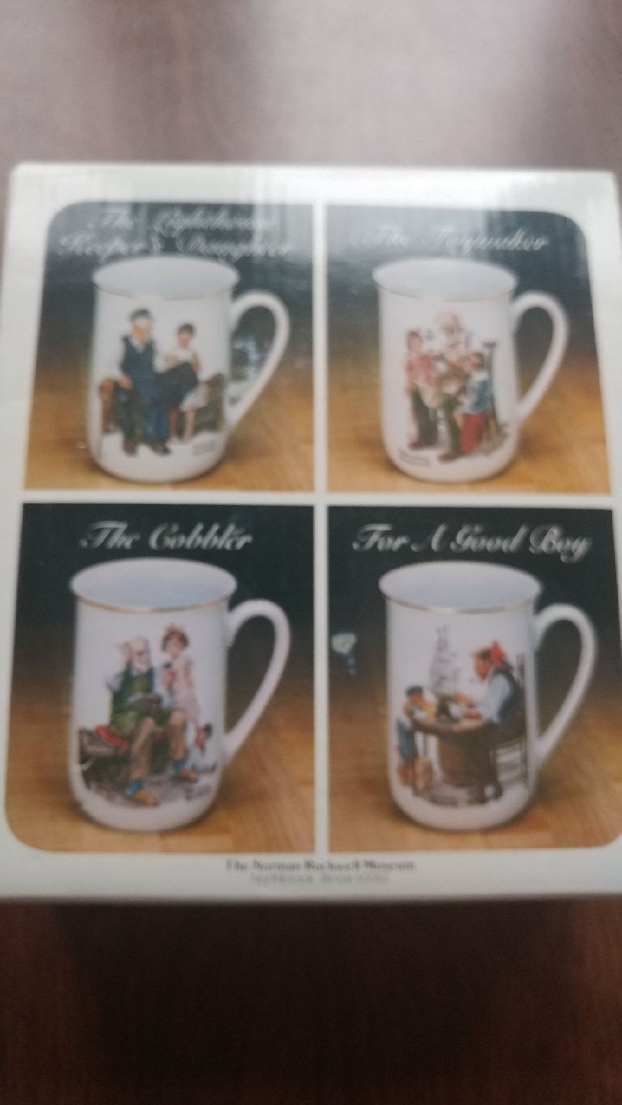 NIB Vintage Norman Rockwell Set of 4 Mug