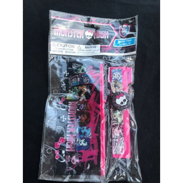 Monster High 4 PC Stationary Set