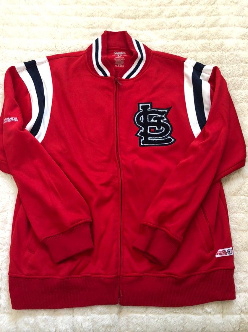 st louis cardinals STL zip up jacket XL