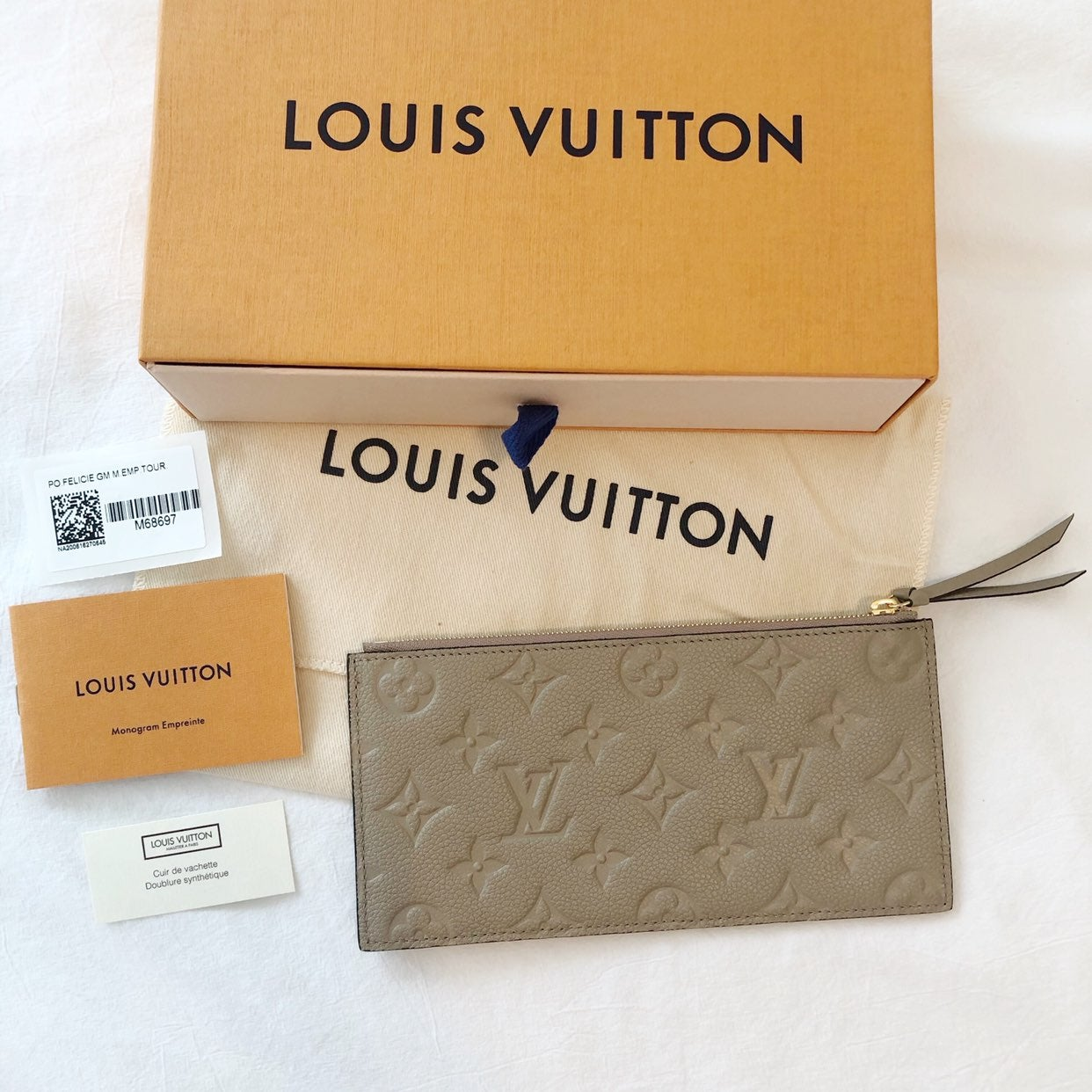 Louis Vuitton Turtledove Zip Pouch