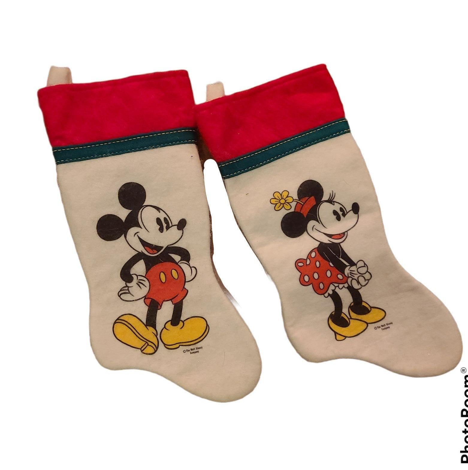 Vintage minnie mickey disney stockings 2