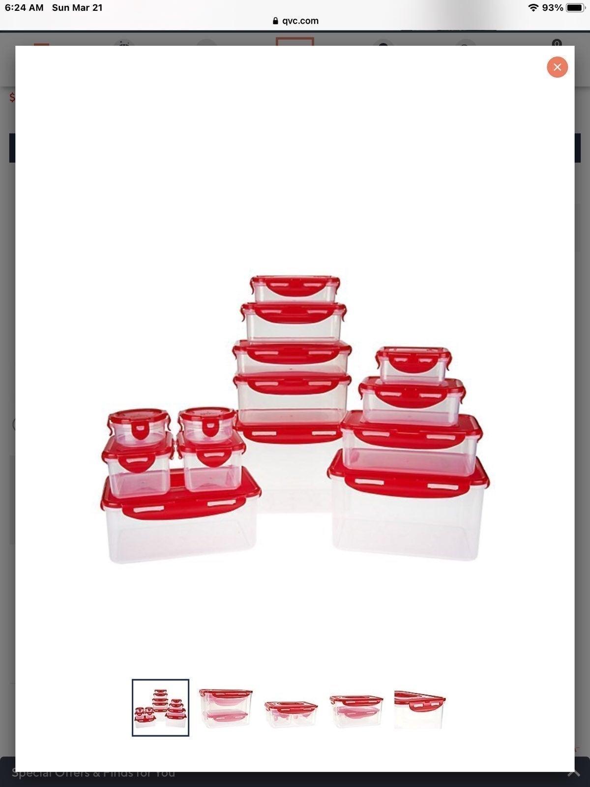 New Red LockNLock 14pc nestable set