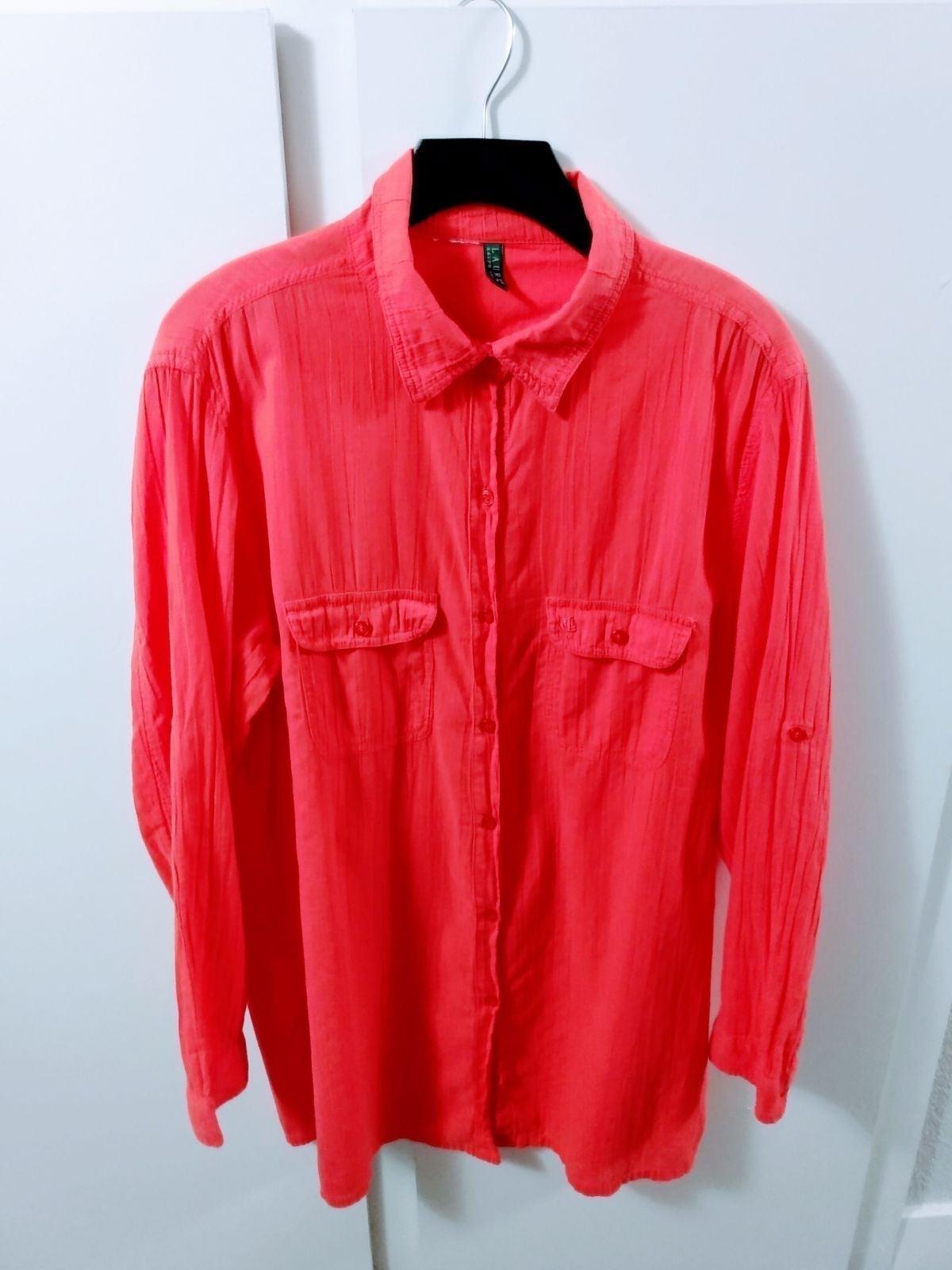 L- Ralph Lauren Boho Button-Down Shirt