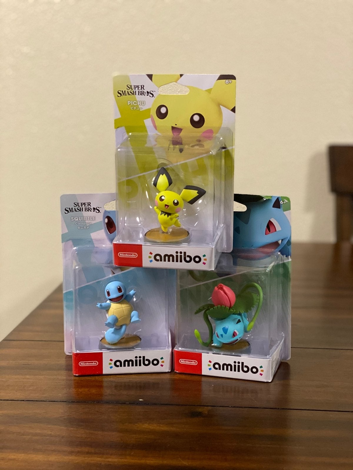 Amiibo Set - Squirtle, Ivysaur, Pichu