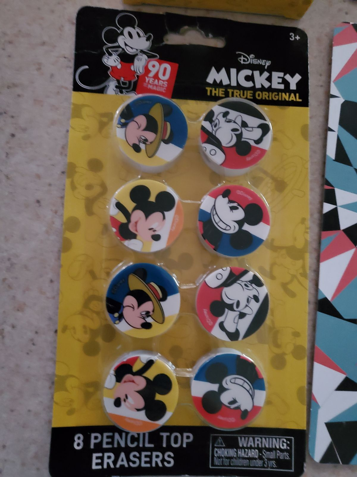 mickey mouse stickers post cards erasers