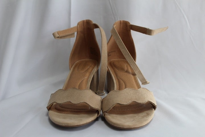 Lane Bryant Ankle Strap Heel - Nude