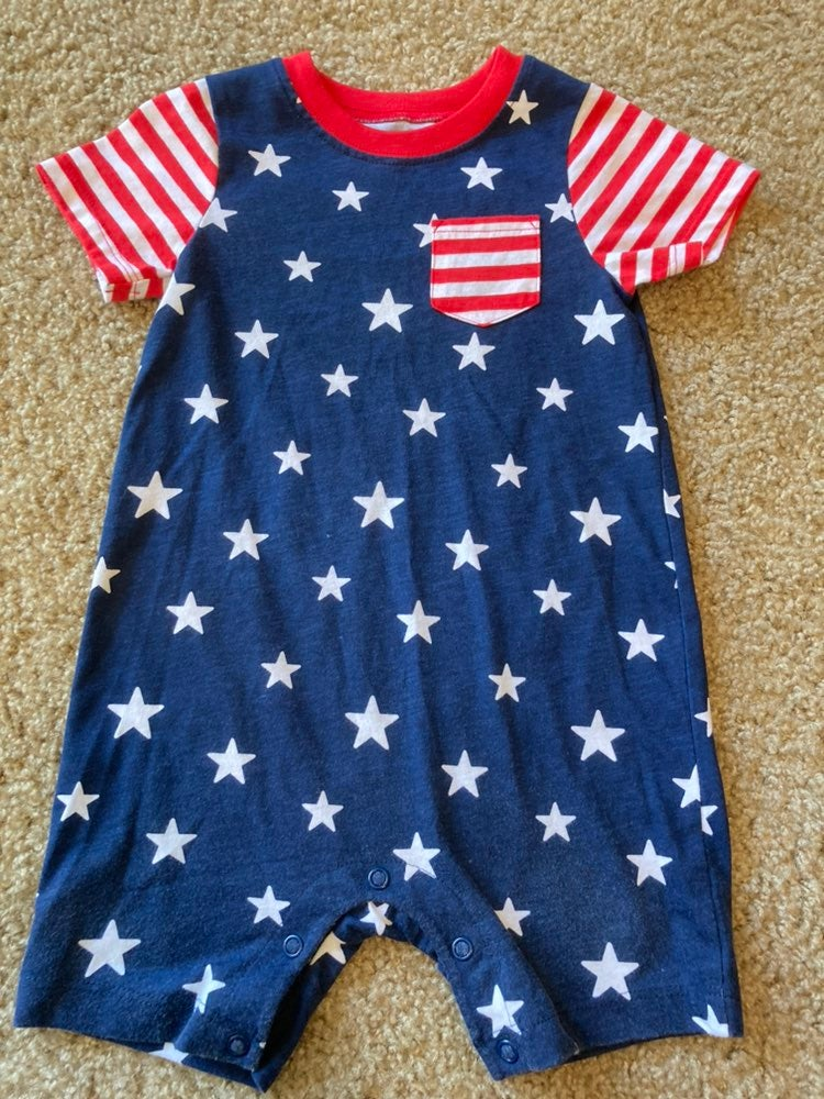 Fourth of July romper 18 mo