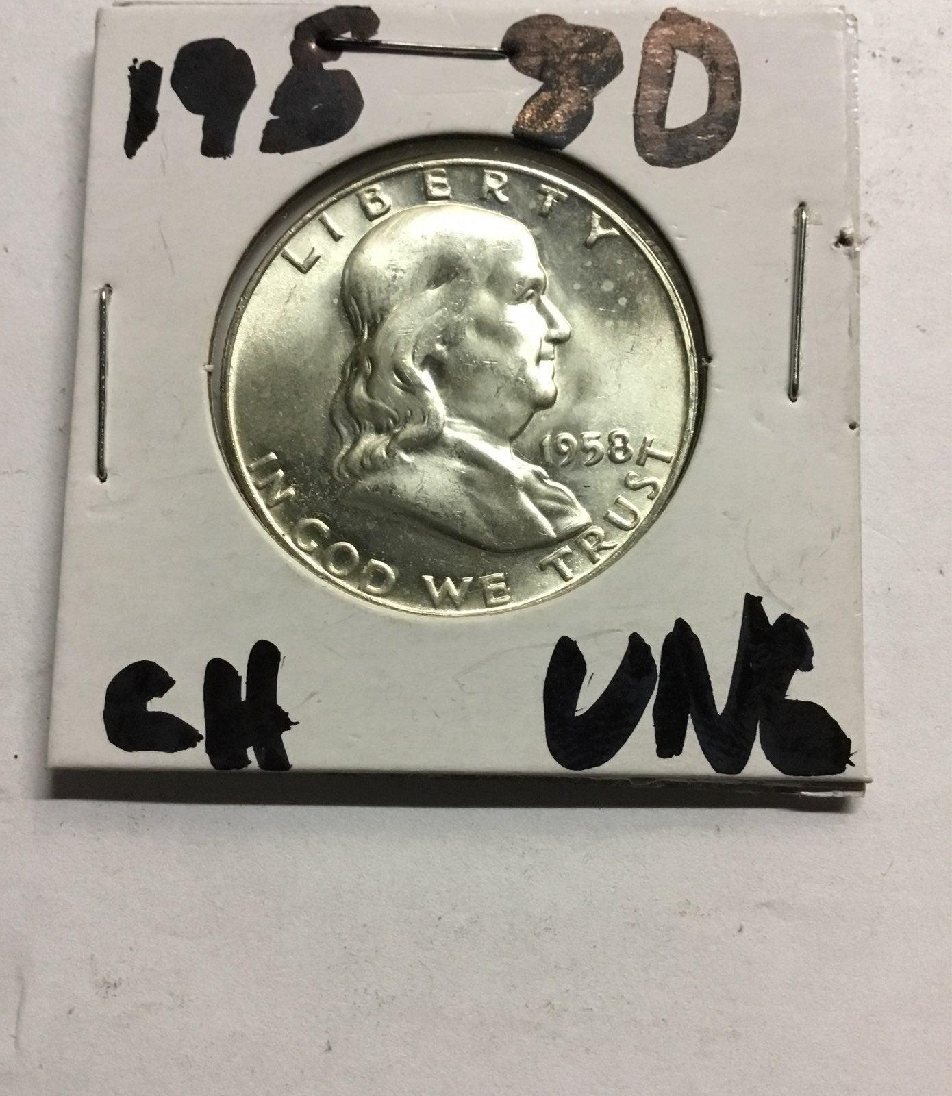 1957D choice half 90% silver