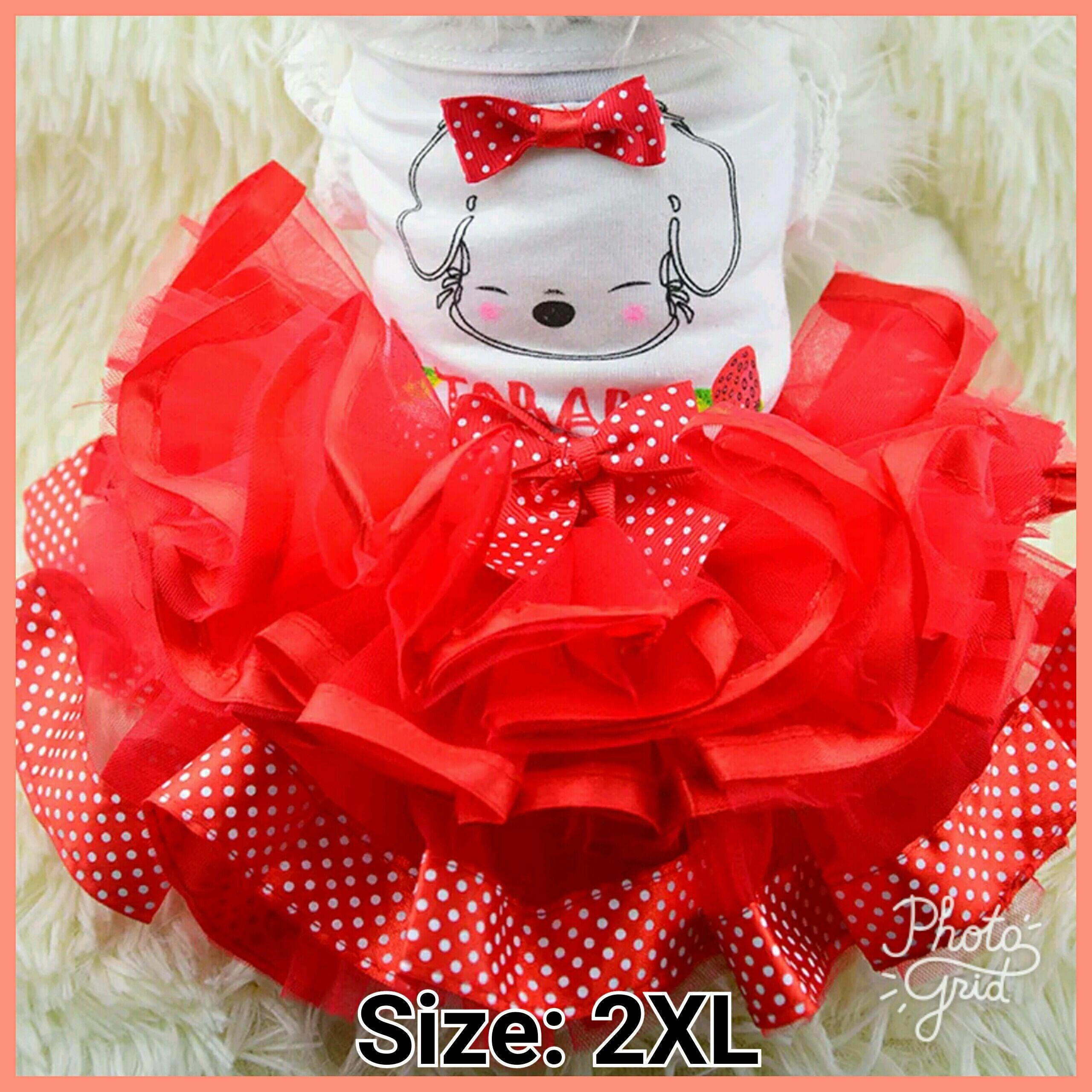 Red Dog Dress Size 2XL