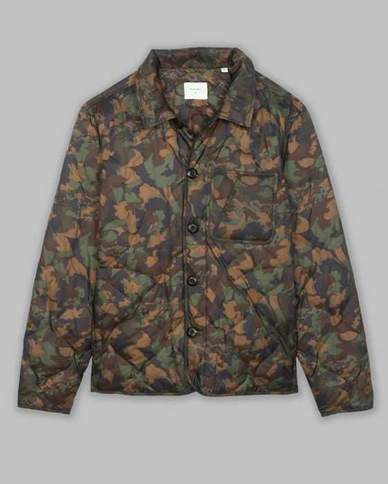 Billy Reid Camo Button up puffer Jacket