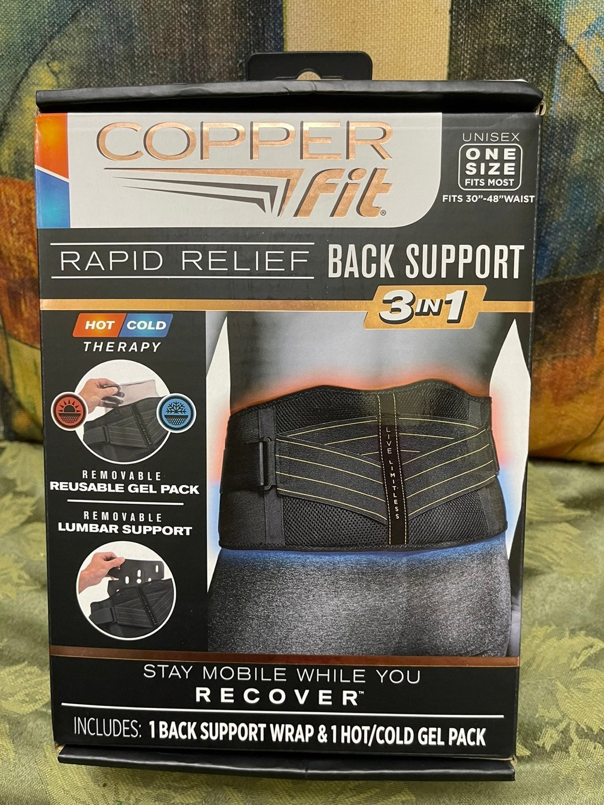Copper Fit Tapid Relief Back Support 3in