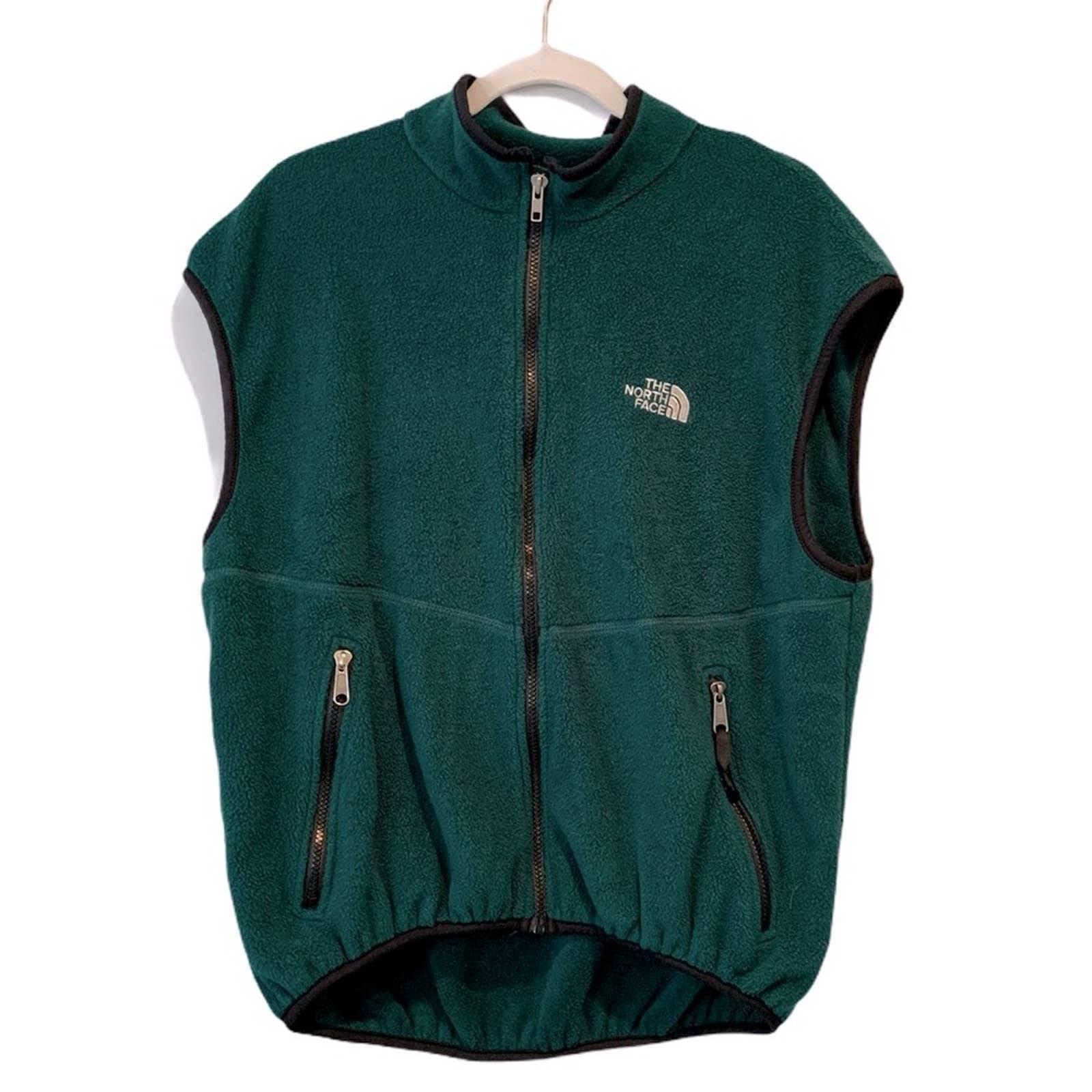 The Northface Fleece Full Zip Green Vest
