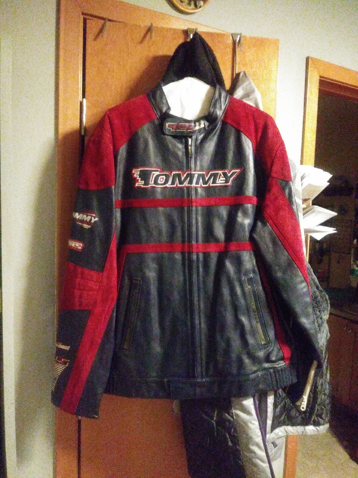 Tommy Hilfiger motorcycle leather jacket