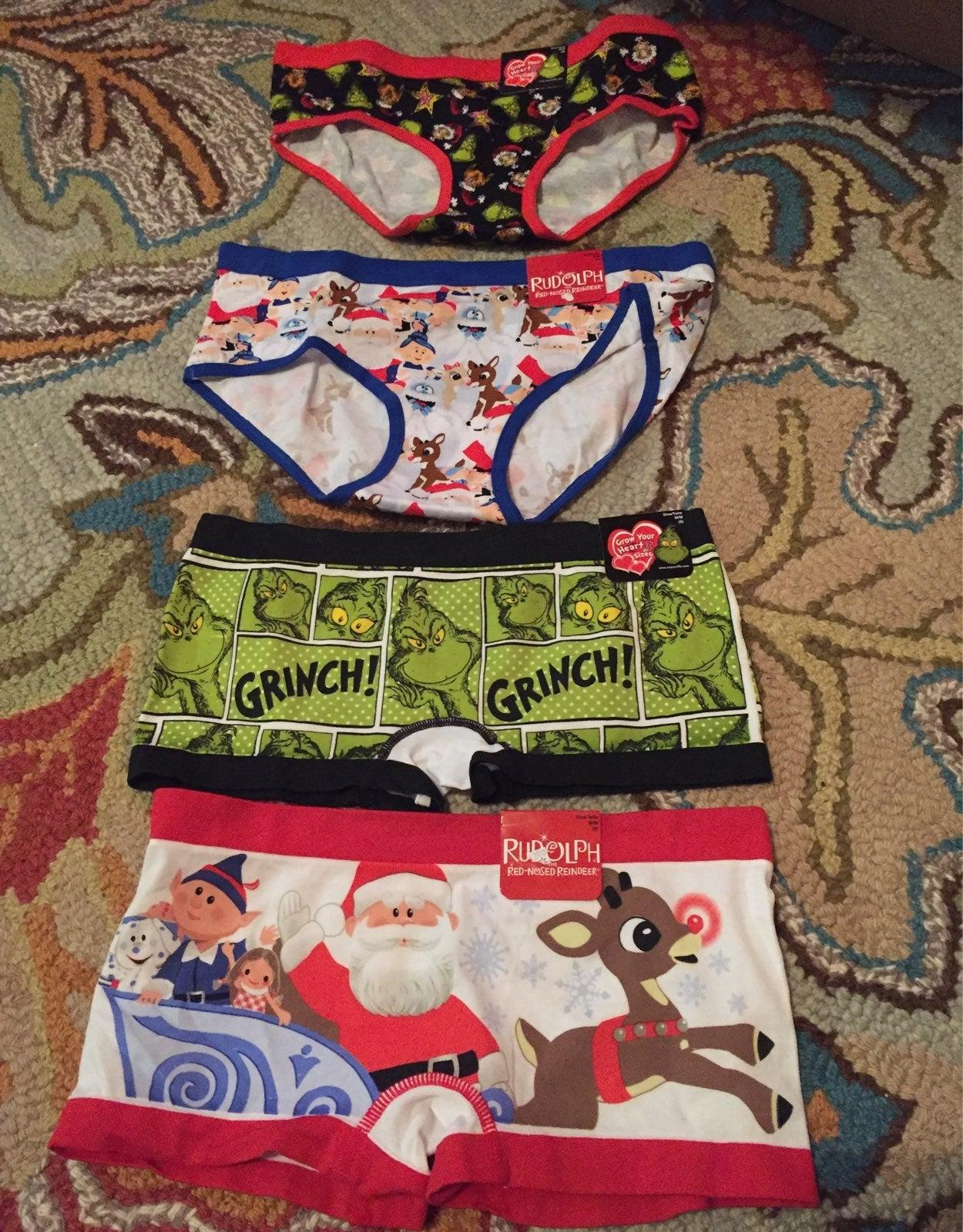 Lot of Christmas panties size M...NWT