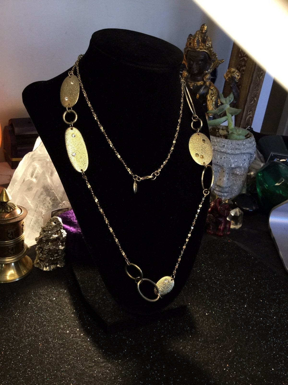 Gold Plated Layered Necklace 36""