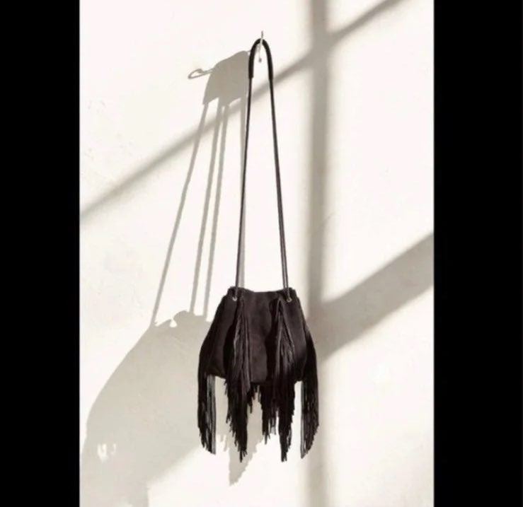 ECOTE Fringe Bucket Bag Suede Material