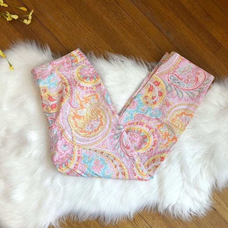 Bushwacker Pink Paisley Print Crop Pants