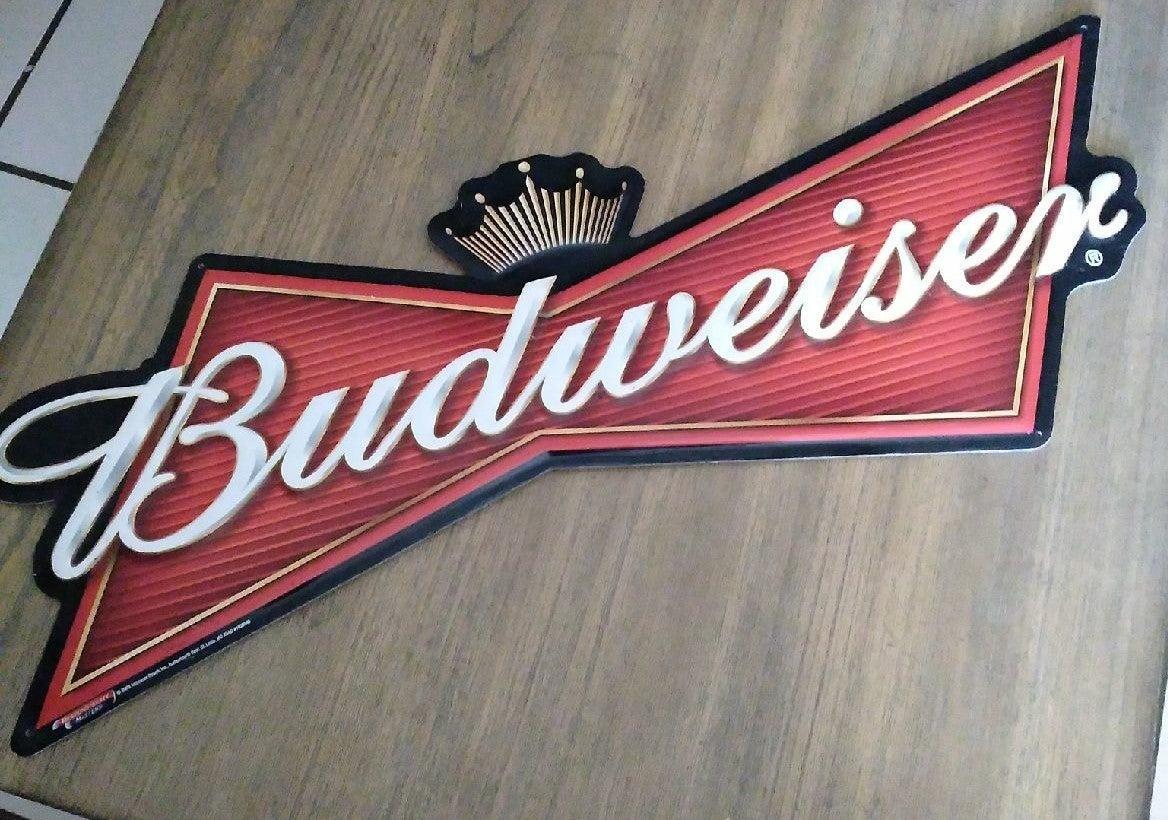 Bubweiser bowtie metal  sign.