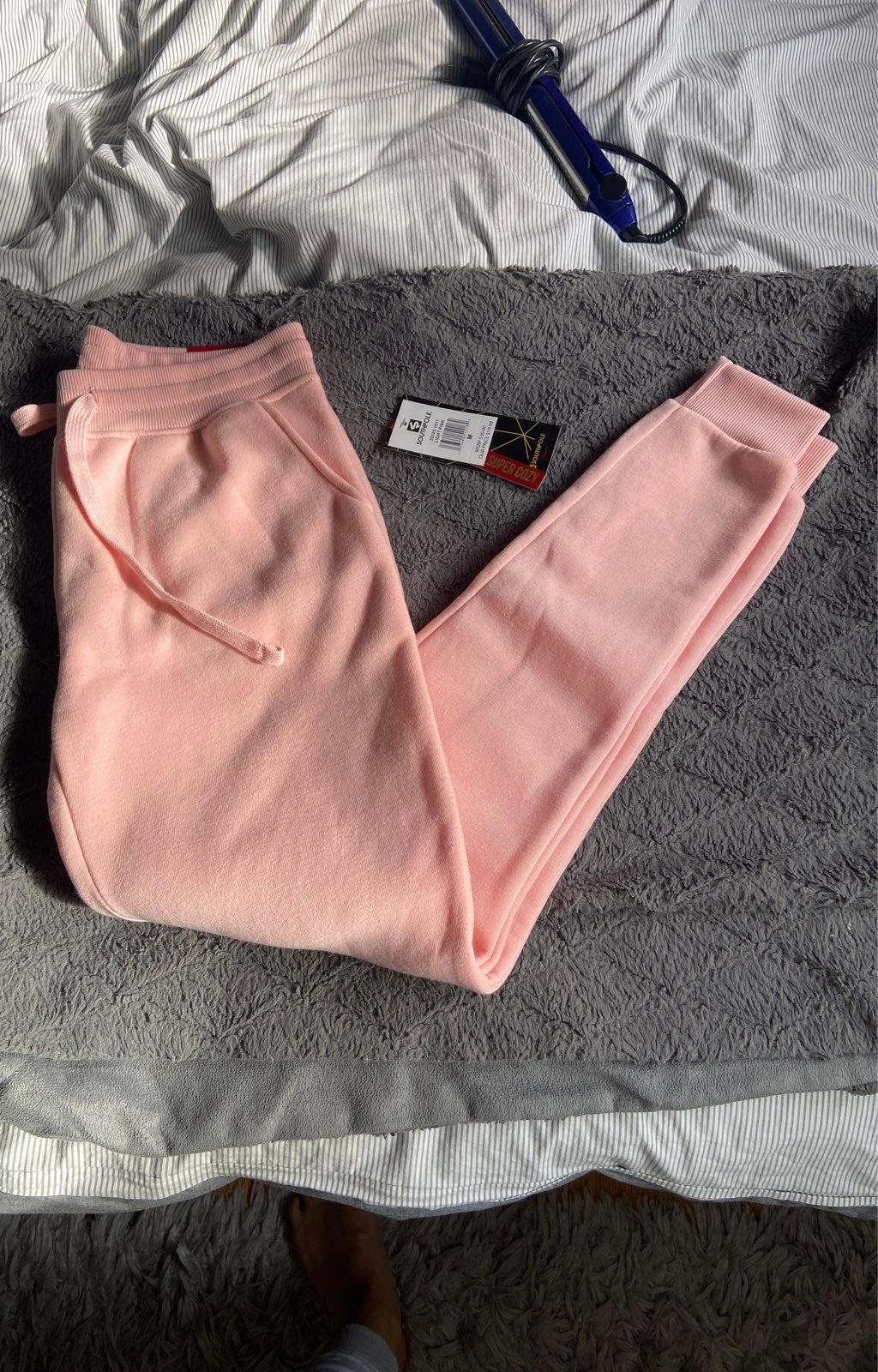 Pink sweatpants joggers