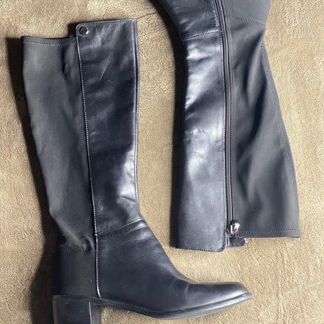 Tahari Black Riding Boots