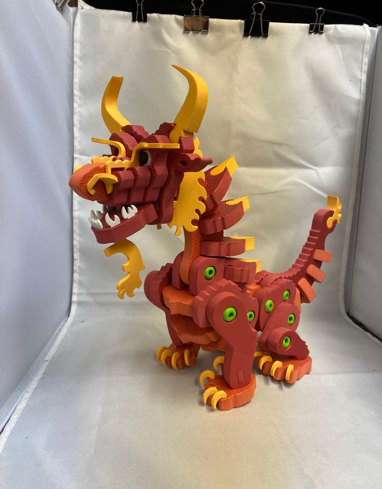 Bloco Foam Fire Dragon