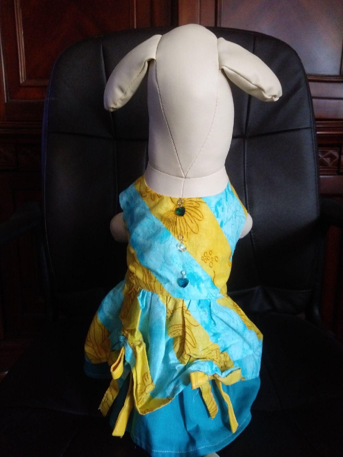 Summer peek a boo dog dress