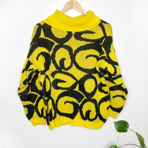 Vintage In Design black & yellow sweater