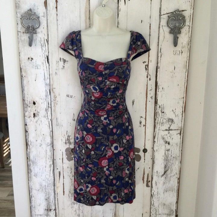 Marc Jacobs XS Blue Floral Knit Dress