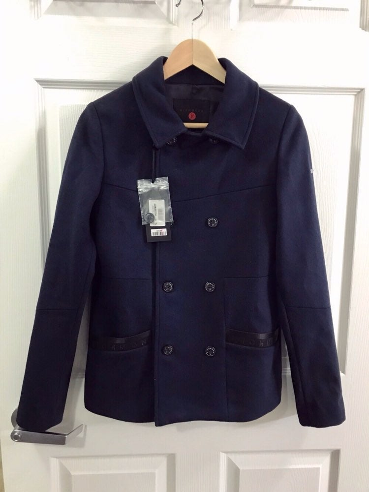 Sale $665 Richmond Wool Cashmere Peacoat