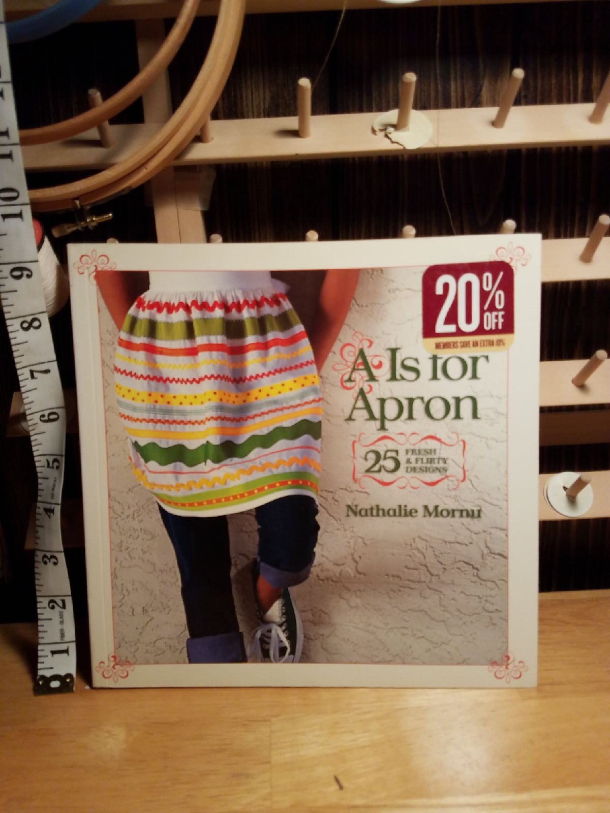 Sewing books is for apron book.. instruc