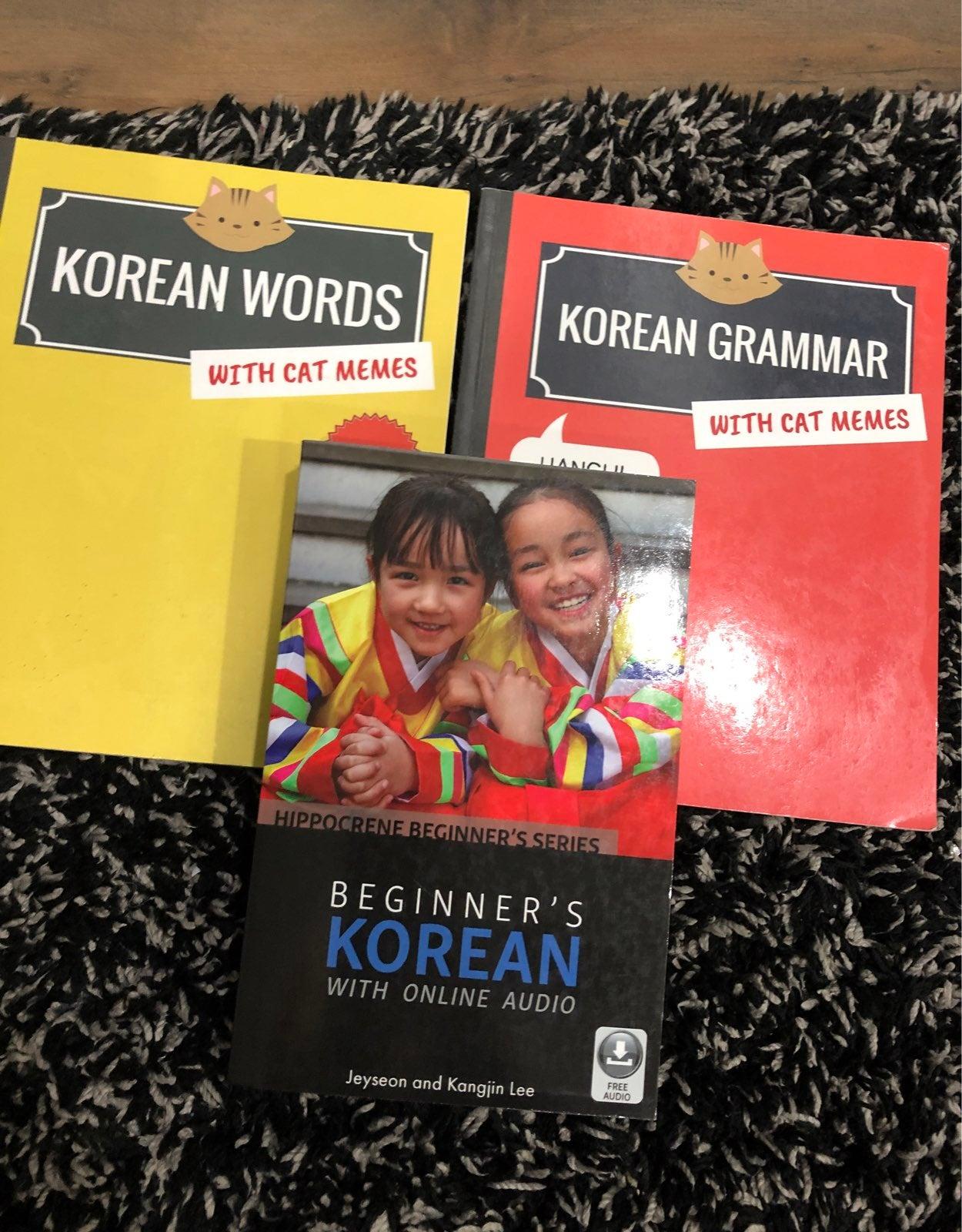 Korean Learning Books Set