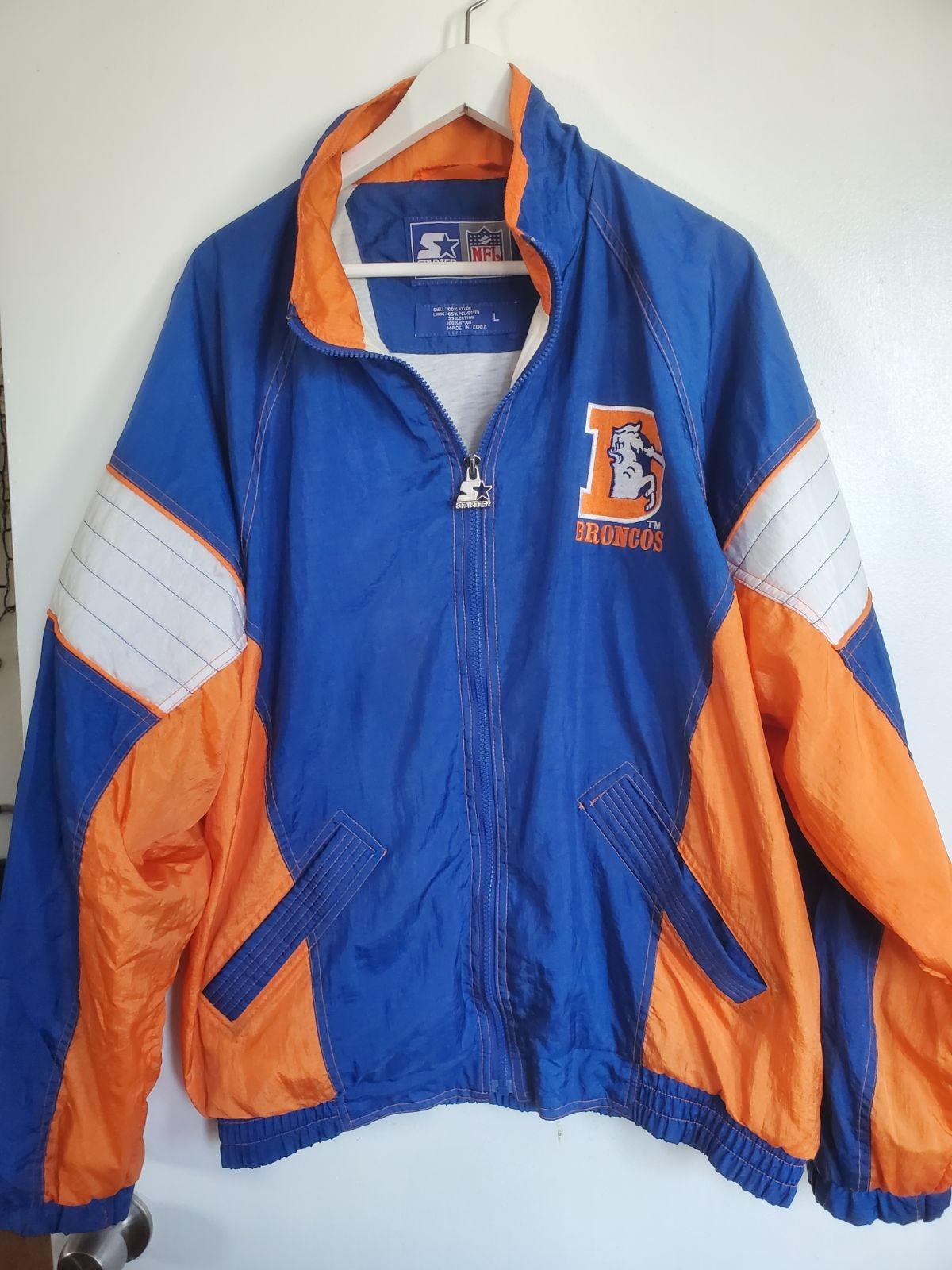 broncos vintage starter jacket