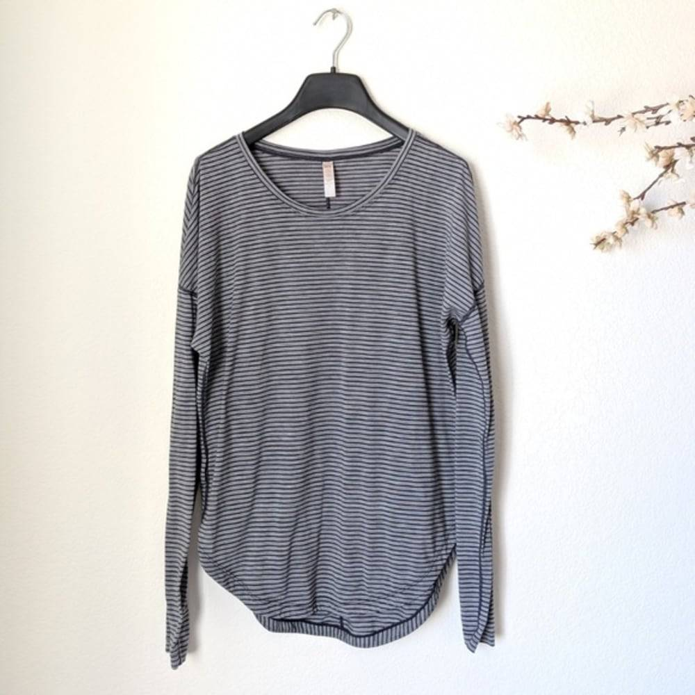 LUCY Athleisure Striped Yoga Top Small