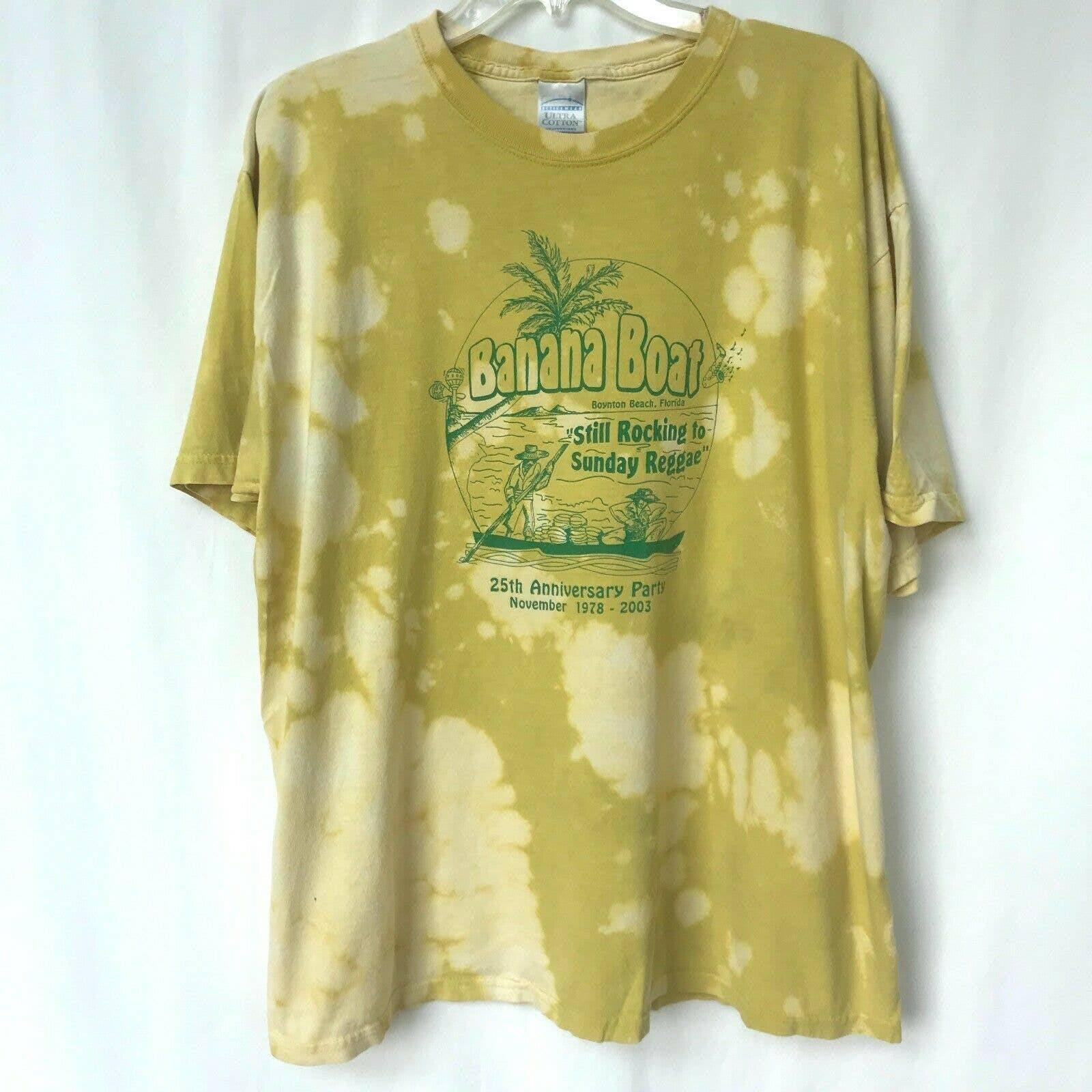Gildan Banana Boat 25th Anniv T-Shirt XL