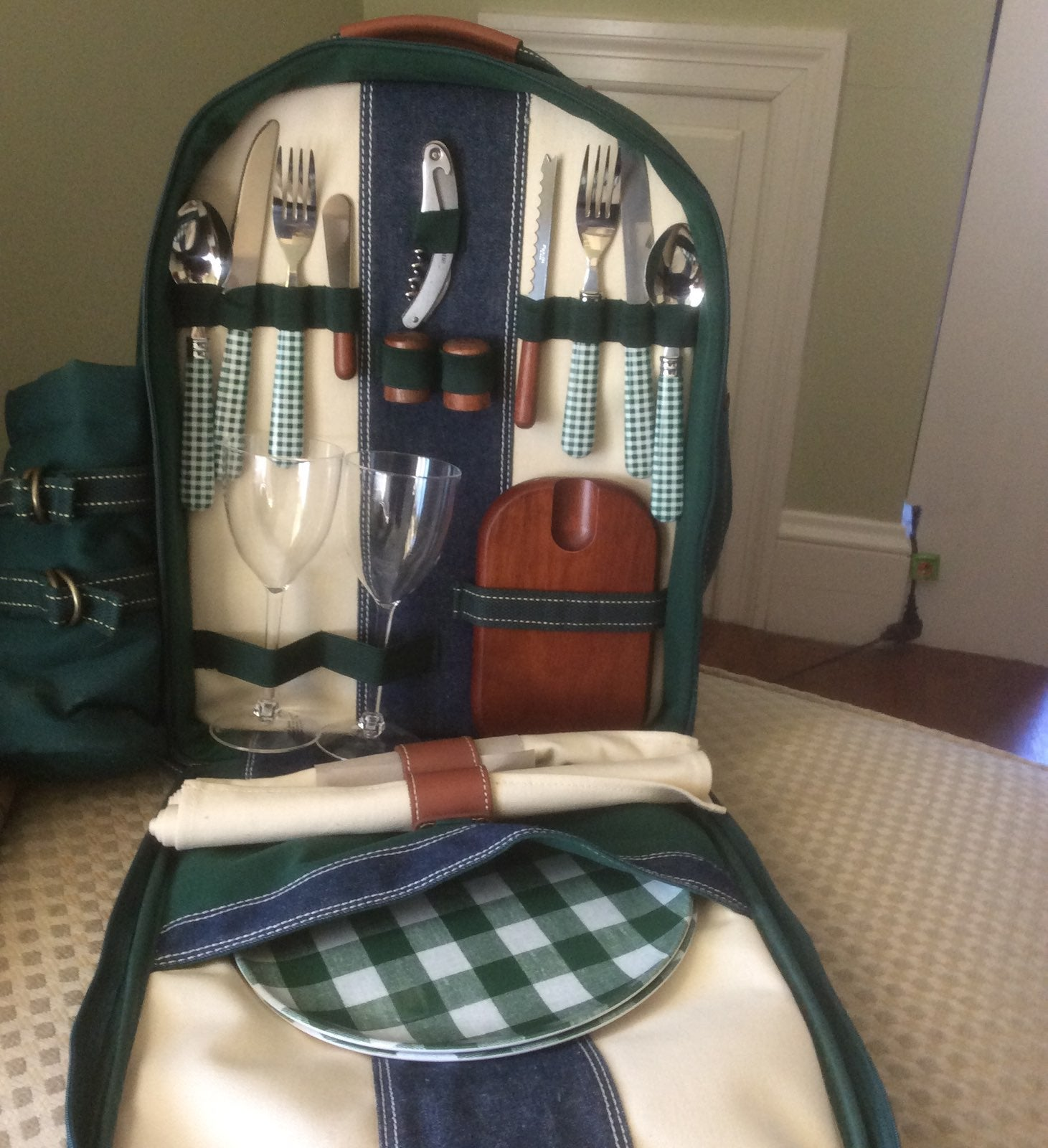 Backpack used for a Picnic